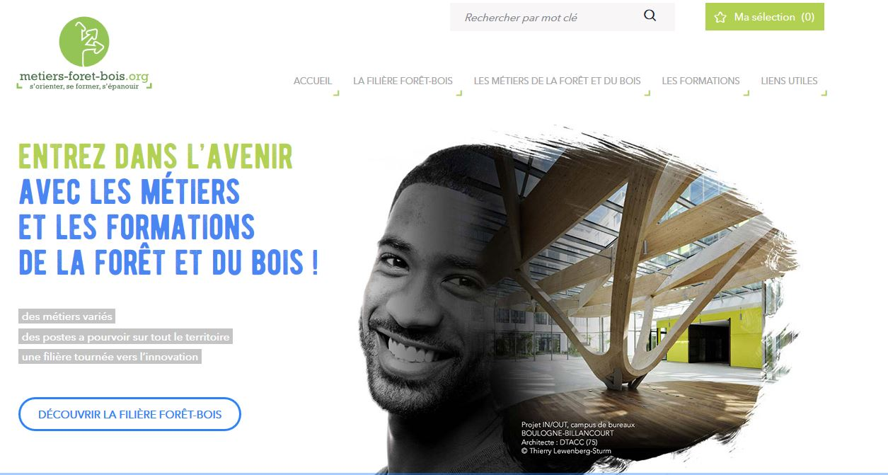 page accueil site metiers2017
